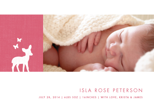 birth announcements - Fawn by Snow and Ivy