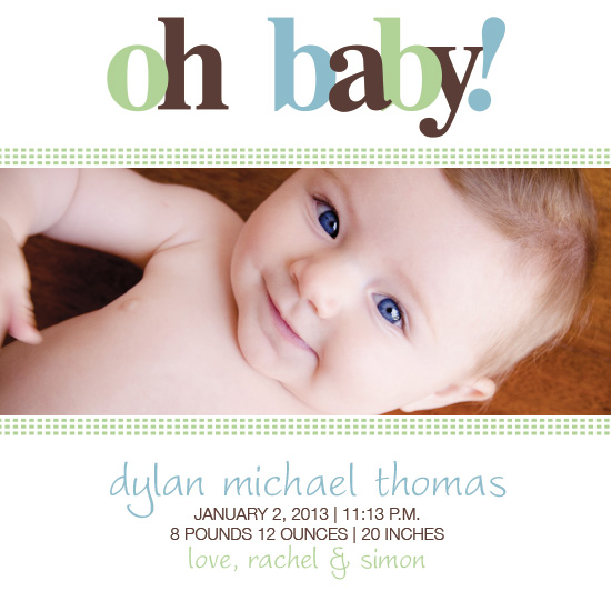 birth announcements - Oh Baby! by Jennifer Gregory