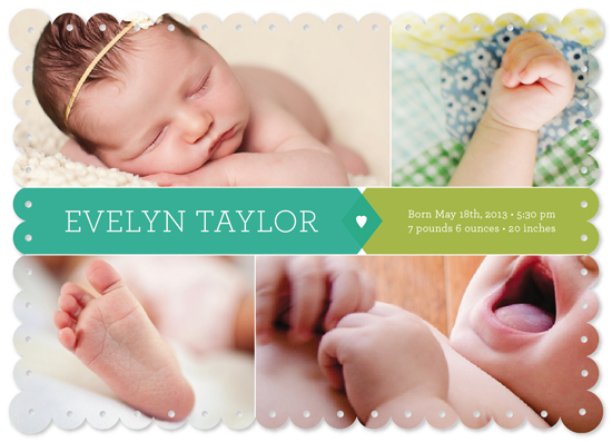 birth announcements - Baby Feature by Sook Lee