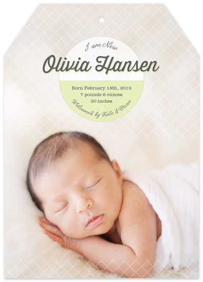 birth announcements - I am New by Sook Lee