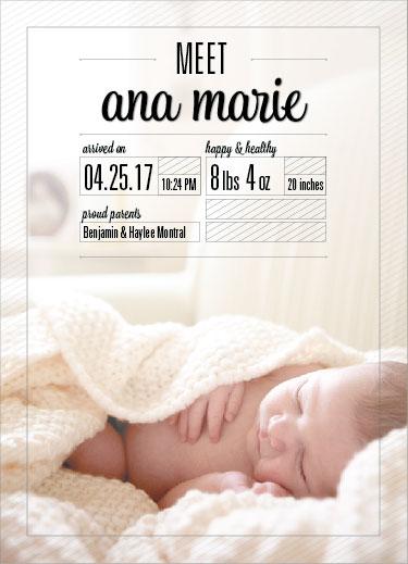 birth announcements - Meet me!  by Katie Verhulst
