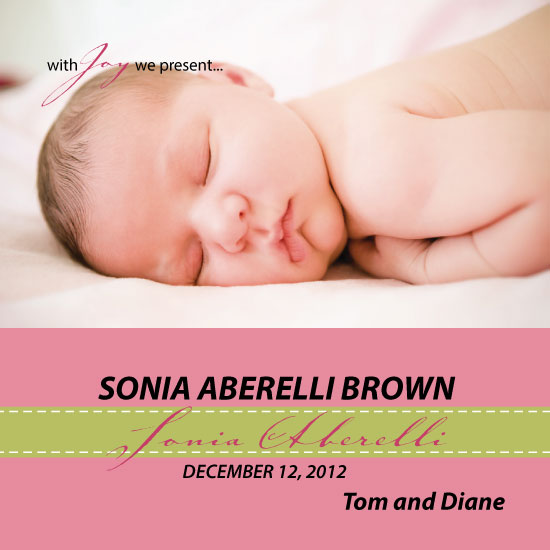 birth announcements - WE Present - DOB Baby by MediaKreations
