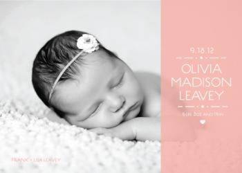 Whimsical modern welcome birth announcement