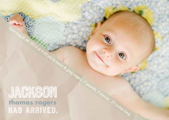 birth announcements - On the Diagonal by Kate Secondo