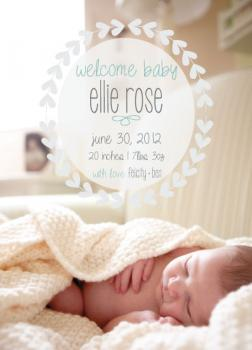 Welcome Baby Floral Wreath