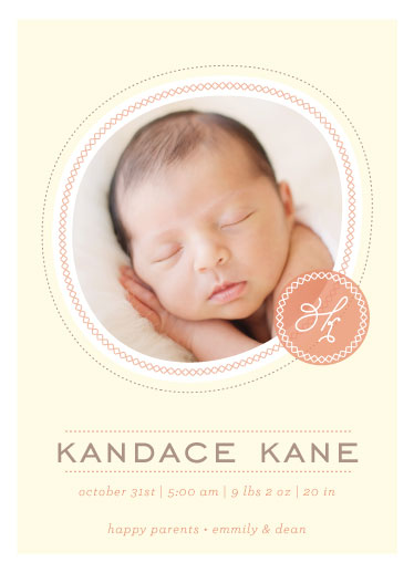 birth announcements - I start with  by Samantha Venator