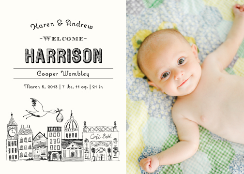 birth announcements - Vintage Storybook by Griffinbell Paper Co.