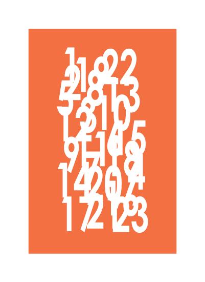 art prints - scramble numbers by aticnomar