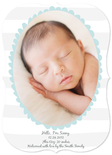 birth announcements - Silver Striped by Julie Lerice