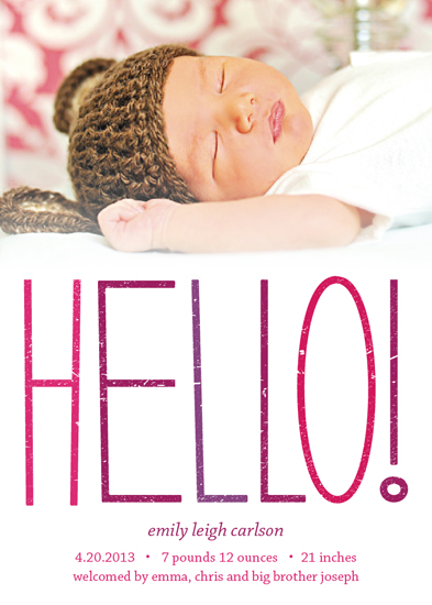birth announcements - Bright Hello by Devon J. Carlson