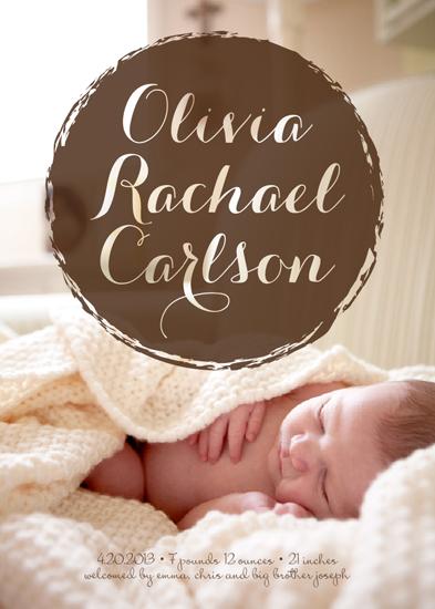 birth announcements - Painted Circle by Devon J. Carlson