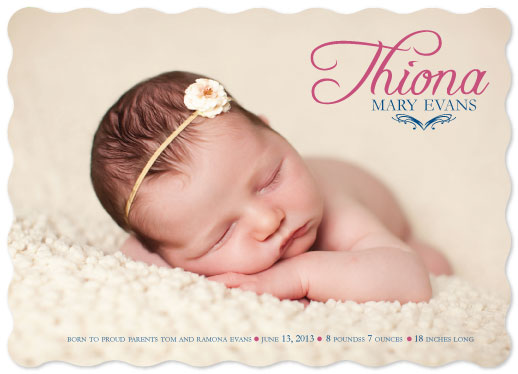 birth announcements - Simple and Wavey by MediaKreations