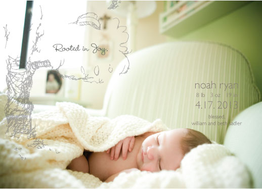birth announcements - Rooted in Joy. by Angela C Pitts