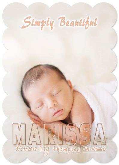 birth announcements - Simply Beautiful by Tory Humphrey