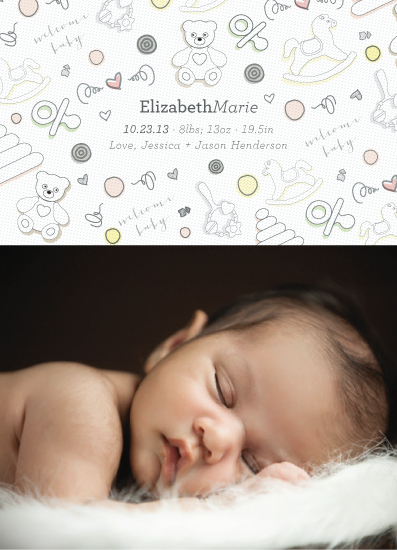 birth announcements - Baby Blanket by Rebecca Bowen