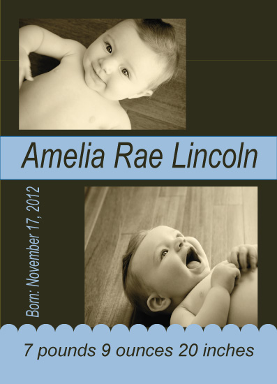 birth announcements - Little Baby Blue by Anna Gatherum
