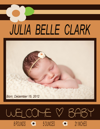 birth announcements - Welcome Little Flower by Anna Gatherum