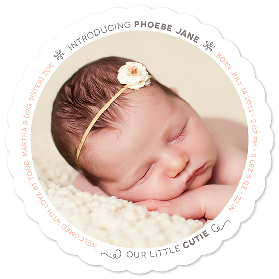 birth announcements - Our Little Cutie by Jessica Booth