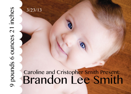 birth announcements - Look at that Little Face... by Anna Gatherum