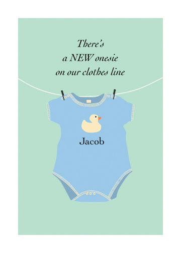 birth announcements - New Onesie by Pat Jennings