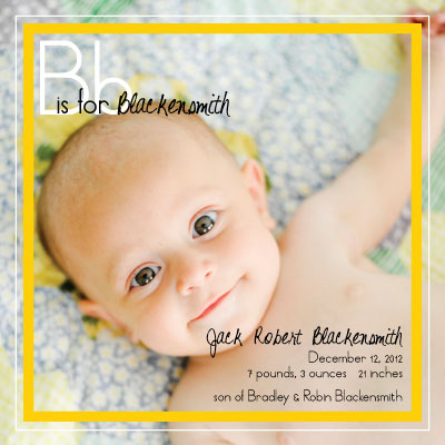 birth announcements - Learn your A,B,C by Theresa