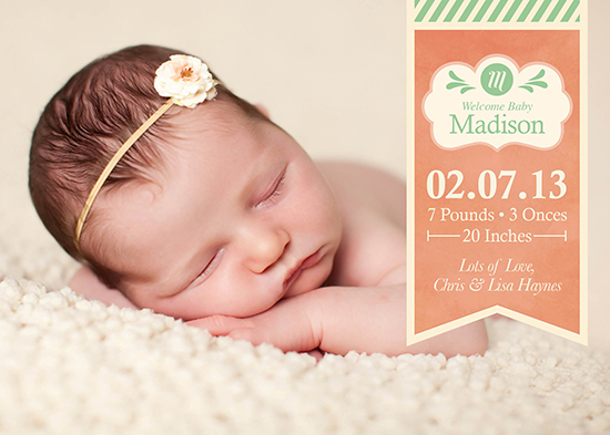 birth announcements - Hello Madison by Lina Kurucz