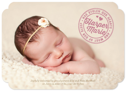 birth announcements - Stolen Our Hearts and Most Of Our Sleep by sweet street gals