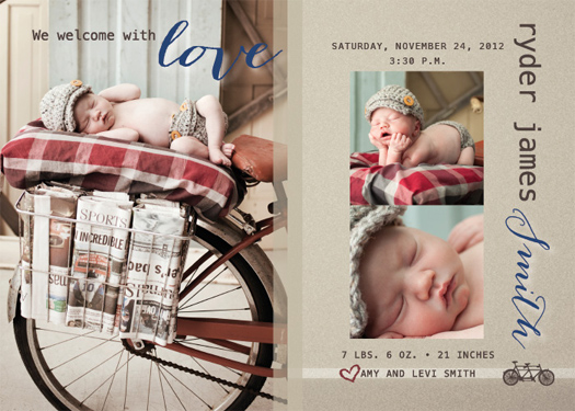 birth announcements - Loving Welcome Birth Announcement by Christy Allison Design