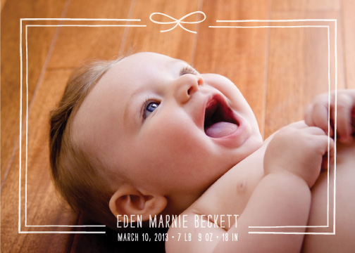 birth announcements - Little Bow by Amber Barkley