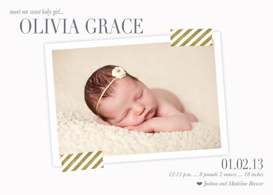 birth announcements - Gracefully Announced by Abby Barnett