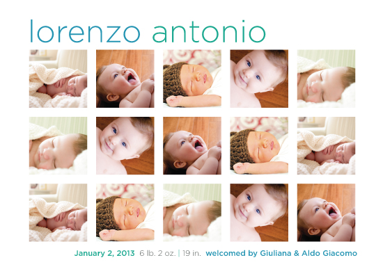 birth announcements - InstaBaby by Lidia Varesco Design