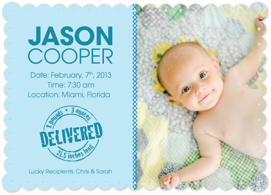 birth announcements - Hello Jason by Lina Kurucz