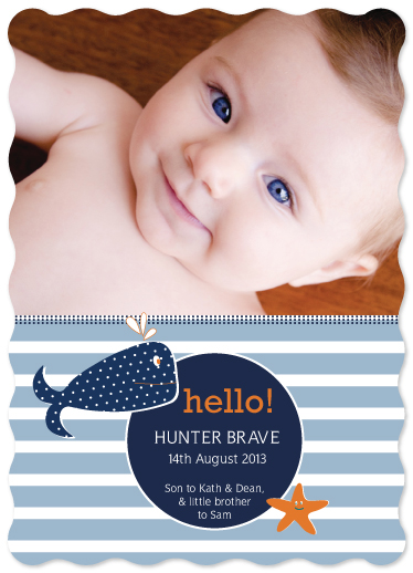 birth announcements - A whale of a time by Jordan Bariesheff