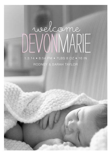 birth announcements - devon by Kimberly Nicole