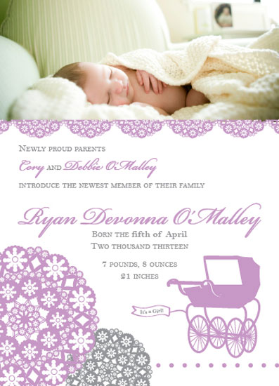 birth announcements - Strolling Along by Brittani Mulvaney