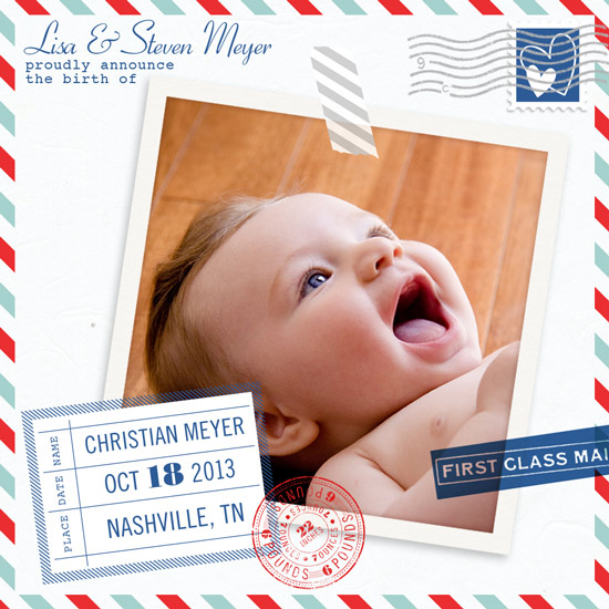birth announcements - Special Delivery by Katherine