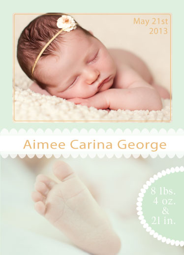 birth announcements - Sweet baby toes by Denise G.