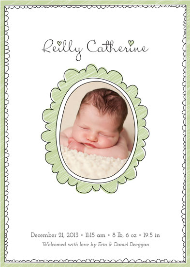 birth announcements - Sweet Baby Frame by Erin Deegan