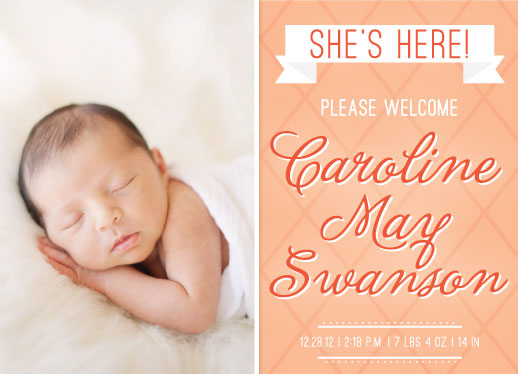 birth announcements - She's Here! by Emma Trithart