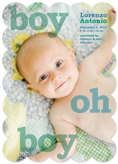 birth announcements - boy oh boy by Lidia Varesco Design