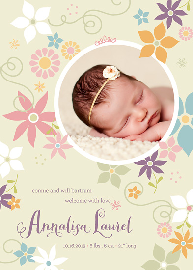 birth announcements - Laurel Wreath by Carol Fazio