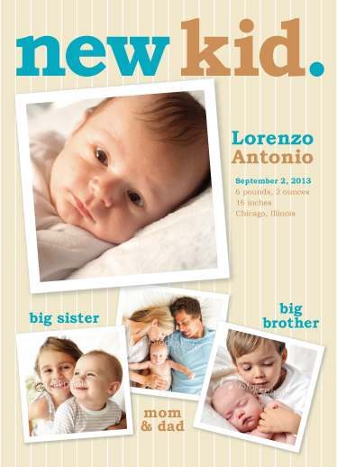 birth announcements - new kid by Lidia Varesco Design