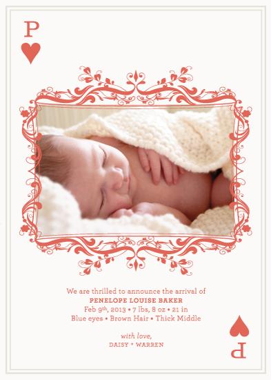 birth announcements - Heart Suit by Pixie Stick Press