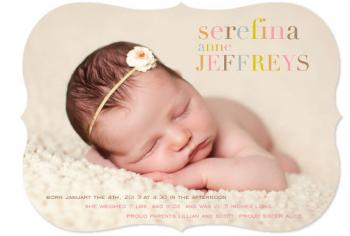 Soft Letters Birth Announcement
