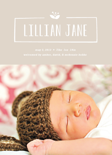birth announcements - Nameplate by Carolyn MacLaren