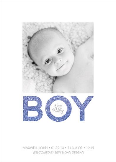 birth announcements - Glittering Baby Boy by Erin Deegan