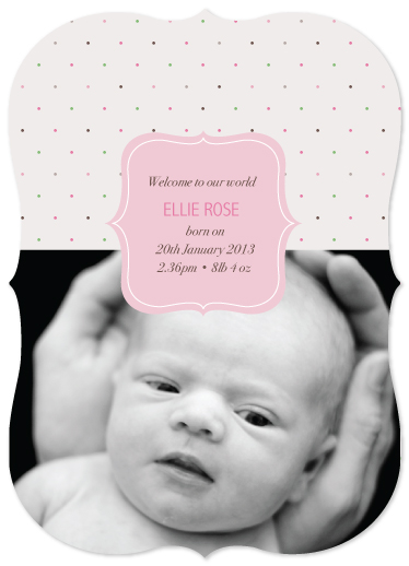 birth announcements - Pretty Polkadot by Jordan Bariesheff