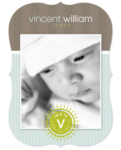 birth announcements - classic honeycomb by Tami Warrington