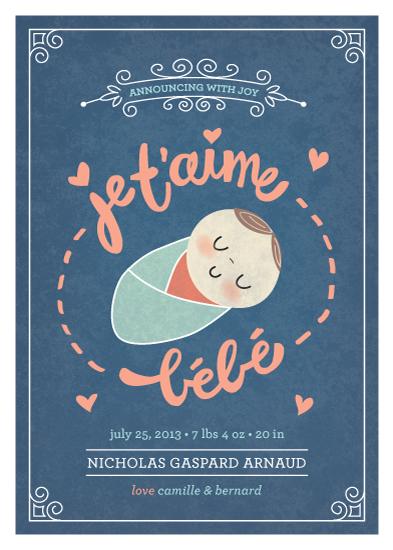 - je t'aime bébé by Guess What Design Studio