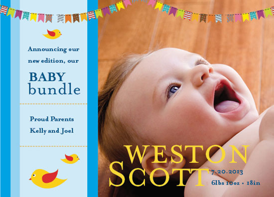 birth announcements - Baby Bundle by Kelly Musebeck